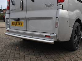 Profiled Rear Protection Bar, Vivaro, Primastar, Trafic, 2007on