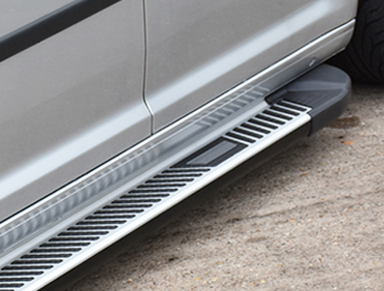 Sherwood Style Aluminium Side Steps - Toyota Proace City LWB 18>