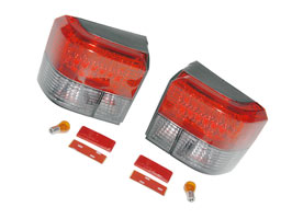 Rear Light Set, Half Smoked With LED, VW T4 & Caravelle, 1990>03