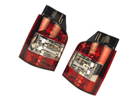Rear Lamp Set, Crystal Clear, VW T5 & Caravelle, 03-09 & 2010>