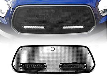 Zunsport Black Grille+10in Wilderness Lights - Transit Mk8 14-19