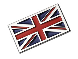 Badge, Union Jack Chrome