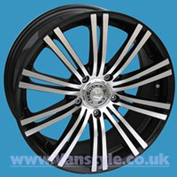 "SR1200 Wheel 20x9"" Black Diamond Set of 4 - Vivaro Trafic Primas"