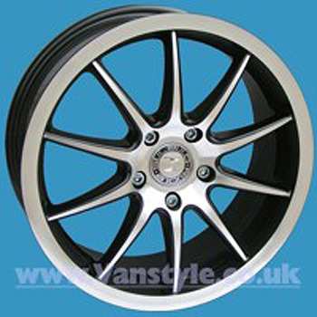 "SR500 Wheel 17x7"" BLACK DIAMOND Set of 4 - VW Transporter T5 T28"