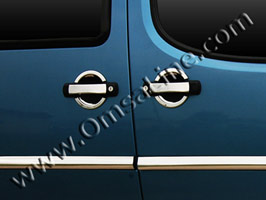 Stainless Steel Door Handle Covers, 4 Drs, Fiat Doblo, 2001>2005