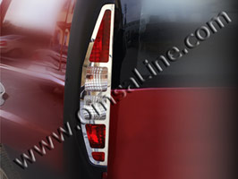 Stainless Steel Rear Light Covers, Fiat Doblo 2001>2005