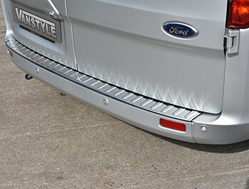 Bumper Protector Rear \'Polished\' Stainless Steel Transit Custom