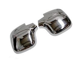 Stainless Steel Finished ABS Mirror Covers, Peugeot Partner, 199