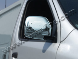 Stainless Steel Mirror Covers, Toyota Hiace, 2005>