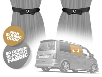 Tailored Blackout Curtain - Grey - Non Sliding Door - VW T5/T6