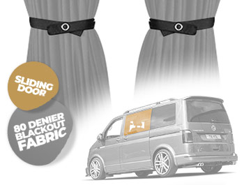 Tailored Blackout Curtain - Grey - Sliding Door - VW T5/T6