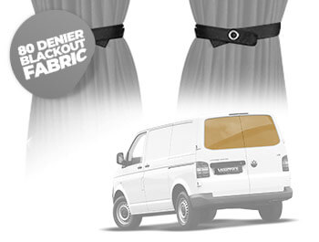 Tailored Blackout Curtain Set - Grey - Twin Door - VW T5/T6