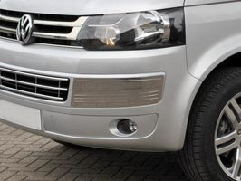 Stainless Steel Bumper Inserts, T5 & Caravelle Facelift, 2010>