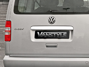 Polished Stainless Steel Tailgate Grab Handle - VW Caddy 10-15