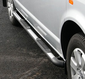 Safety SIDE STEPS VW Transporter T4 Black End Corners