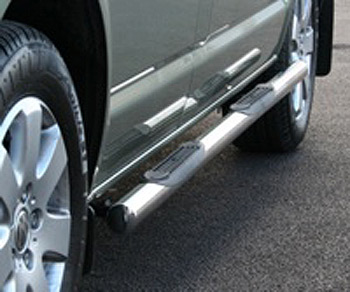 Safety SIDE STEPS VW T5 Transporter / Caravelle Chrome End Caps