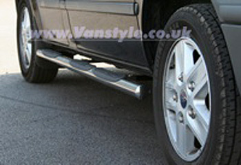 Safety SIDE STEPS Polished Chrome End Caps - Ducato Boxer Relay
