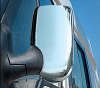 Chrome Mirror Cover Set UK RHD Ford Transit 00-06 & 07-12