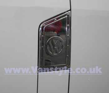 Stainless Steel Fuel Flap Cover - VW T5 Transporter / Caravelle