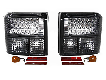 Rear Light Set, Smoked LED, T4 Transporter & Caravelle, 1990>03