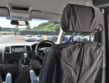 Genuine VW Front Waterproof Grey Seat Covers - VW T5 10-15