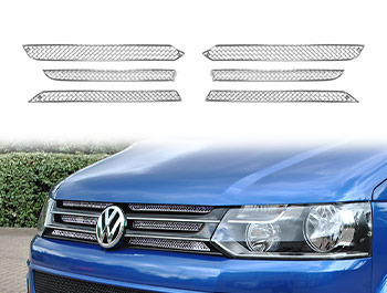 Zunsport Polished Chrome Upper 6pc Grille Set - VW T5 10-15