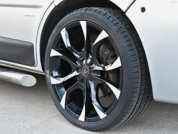"Wolfrace Assassin Black-Polished 20"" Wheel Package VTP"