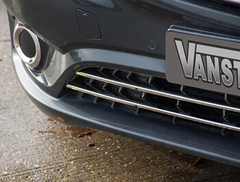 Mercedes Vito Tourer 2Pc. S.S Lower Front Grille Trim 14>