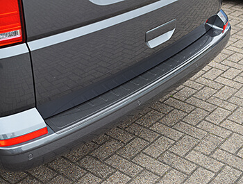 VW T6 T6.1 Tailgate 15> Real Carbon Fibre Bumper Protector