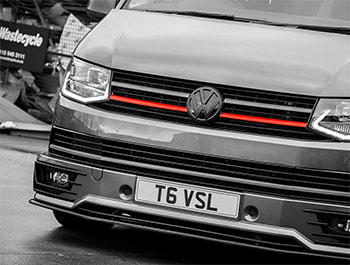 Red Edition 2-Piece - Front Grille Lower Trim - VW T6 2015>
