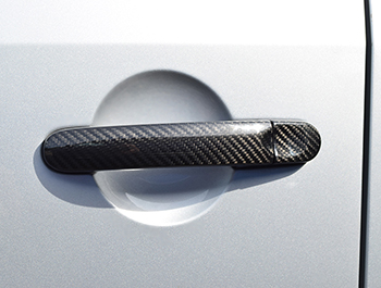 Carbon Fibre Door Handle Trim Covers - VW T5 T6 Caddy
