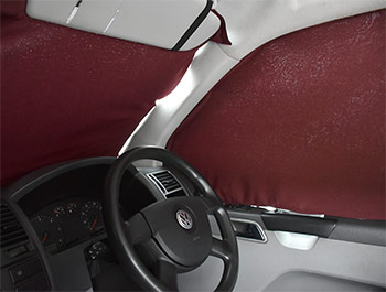 VW T5/T6 Tailored Curtain - Cab Front - Red