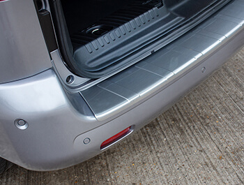 Brushed ABS Rear Bumper Protector - Vauxhall Vivaro 19>