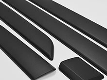 Ford Transit Custom Side Body Moulding Covers - Black