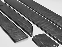 Ford Transit Custom Side Body Moulding Covers - Carbon Effect