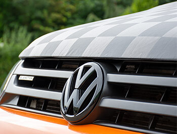 Full Length Chequered Bonnet Bra Cover - VW T5 2010-15