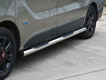 76mm Stainless Steel Side Bars (3xSteps) Vivaro/Trafic/Primastar