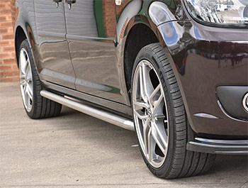 Polished Chrome 50mm Sportline Style Side Bars - Caddy LWB 04>21