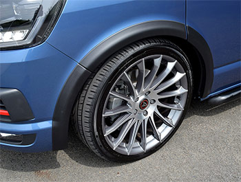 VW T6 SWB & LWB 2015> Black ABS Wheel Arch Covers