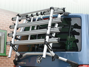 Genuine VW T6 - 4 Bike Bicycle Rack for Tailgate Models (Ver1)