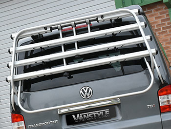 VW T5 03-15 Genuine 4 Bike Tailgate Bicycle Rack + Gen. Struts