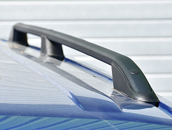 VW T5 & T6 LWB Textured Black Aluminium Roof Bars 03-15 & 2015>