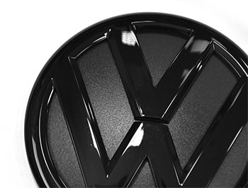 VW Replacement Rear Gloss Black Badge - VW T5/T5.1/T6/Caddy