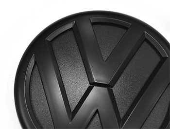 VW Replacement Rear Matte Black Badge - VW T5/T5.1/T6/T6.1/Caddy