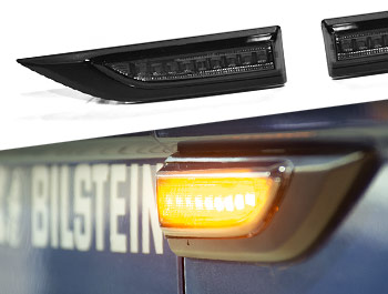 LED Sequential Side Repeater Pair - Dark Smoked - VW T6 15>