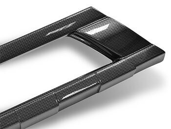 Front Bumper Carbon Effect ABS Skid Plate - Transit Custom 12-18