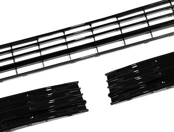 Gloss Black ABS Lower Grille Trim Insert Set - VW T6 2015>
