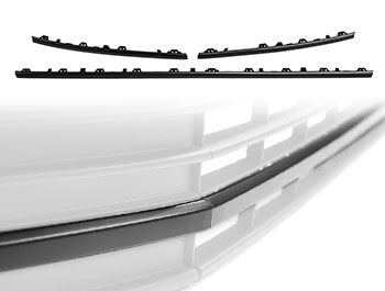 Matte Black ABS Lower Grille Trim Insert Set - VW T6 15-19