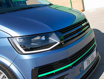 Gloss Black ABS Badgeless Grille - VW T6 2015>