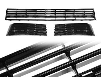 Gloss Black Lower 3 Piece Radiator Grille - VW T6 2015>